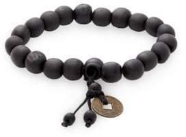 Jean Claude Buddhist Tibetan Wood Bead Bracelet