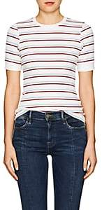 Frame Women's 70s Striped Fitted T-Shirt - White