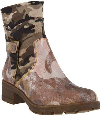 Spring Step L'Artiste by Leather & Textile Boots - Cammo
