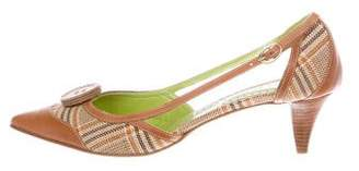 Etro Canvas Pointed-Toe Pumps