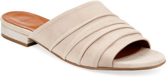 Aquatalia Tiana Ruched Suede Slide Sandals