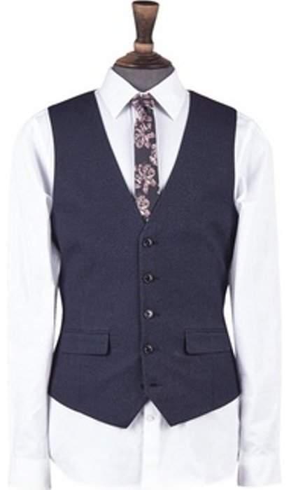 Womens **Burton Blue Puppytooth Slim Fit Waistcoat