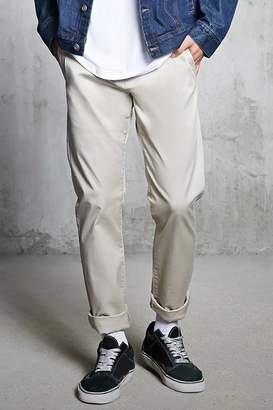 Forever 21 Slim-Fit Woven Chinos