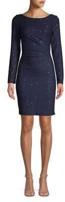 Vince Camuto Sequin Long-Sleeve Sheath Dress
