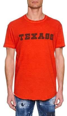 DSQUARED2 Men's Texass Cool-Fit Crewneck Cotton T-Shirt