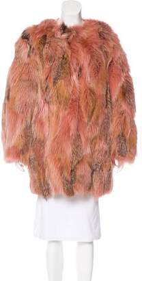 Lanvin Oversize Fox Fur Coat