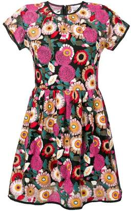 RED Valentino floral embroidered mini dress