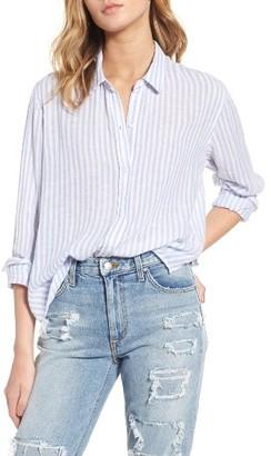Women's Rails Sydney Stripe Linen Blend Shirt $148 thestylecure.com