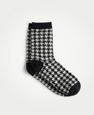 Ann Taylor Houndstooth Trouser Socks