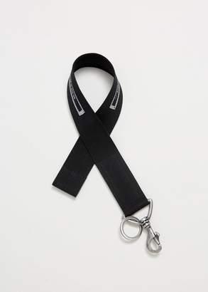 Rick Owens D RK SH D W Ribbon Keychain