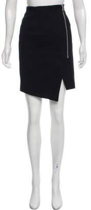 Veronica Beard Linen-Blend Mini Skirt
