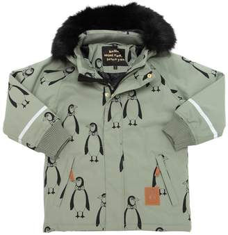 Mini Rodini Penguins Waterproof Nylon Ski Jacket