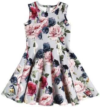 MonnaLisa Floral Printed Neoprene Dress