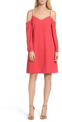 Women's Julia Jordan Cold Shoulder Shift Dress $128 thestylecure.com