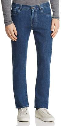 Canali Stretch New Tapered Fit Jeans in Blue Denim