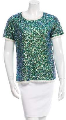 Gryphon Short Sleeve Sequined Shirt