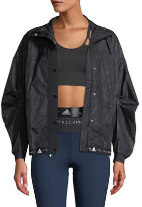 adidas by Stella McCartney Run Wind-Resistant Floral Performance Jacket