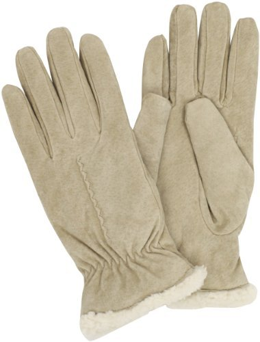 Isotoner Women's Wrist Sherpa Soft Leather Glove