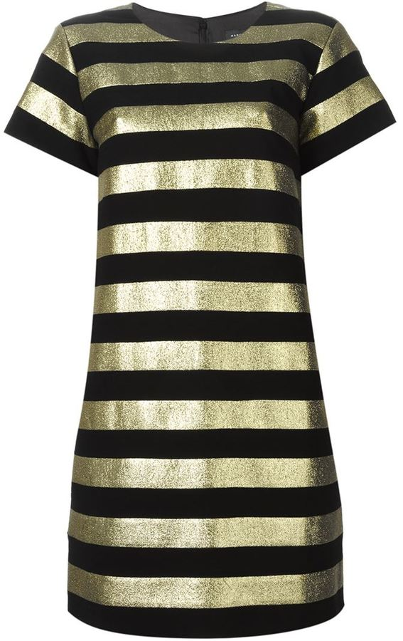 Marc By Marc Jacobs metallic stripe shortsleeved dress