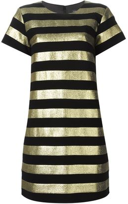 Marc By Marc Jacobs metallic stripe shortsleeved dress $575.23 thestylecure.com