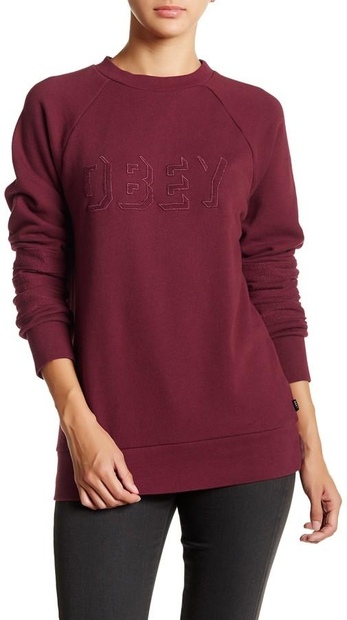 Obey Shadow Stripe Crew Sweater 2