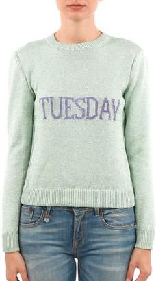 Alberta Ferretti Rainbow Week Crewneck Sweater