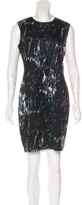 Carmen Marc Valvo Printed Mini Dress Black Printed Mini Dress