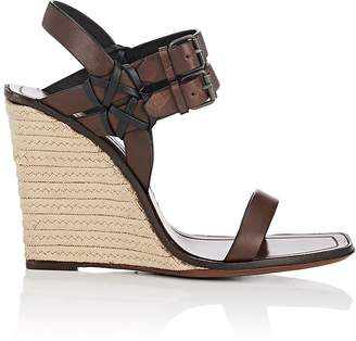 Saint Laurent Women's Leather Espadrille Wedge Sandals