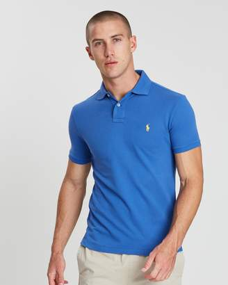 Polo Ralph Lauren Custom Slim Fit Mesh Knit Polo