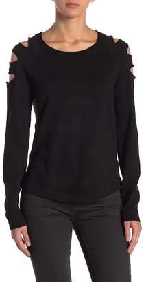 Modern Designer Ladder Cutout Long Sleeve Sweater
