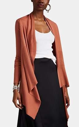 Rick Owens Women's Virgin Wool Wrap Cardigan - Pink