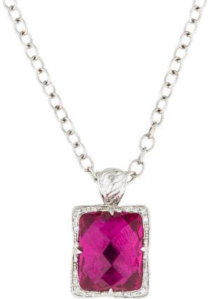 CharriolCharriol Pink Quartz & Diamond Pendant Necklace