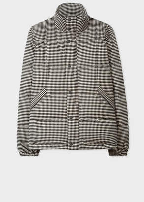 Paul Smith Men's Black And White Gingham Down-Filled Jacket
