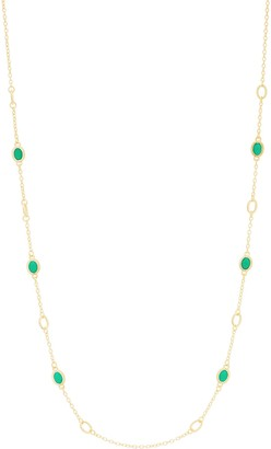 "Judith Ripka Verona 14K Clad Gemstone 36"" Necklace"