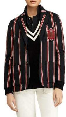 Polo Ralph Lauren Wool-Blend Cricket-Stripe Blazer