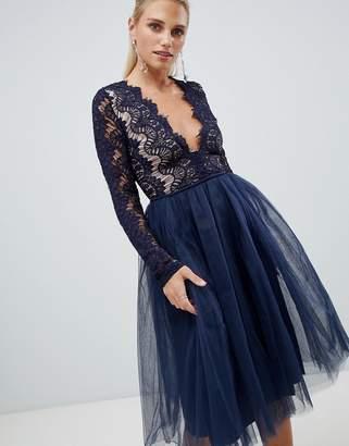 Rare London long sleeve lace tutu dress