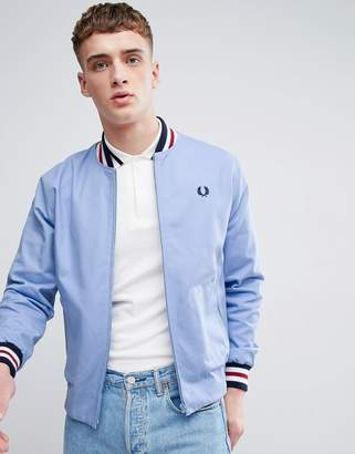 Fred Perry Reissues Tennis Bomber Jacket In Blue