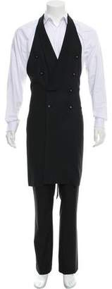 Tom Rebl Double-Breasted Wool-Blend Vest