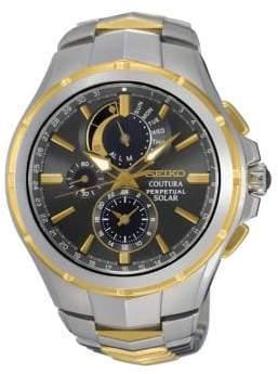 Seiko Solar Crystals Quartz SSC376 Watch