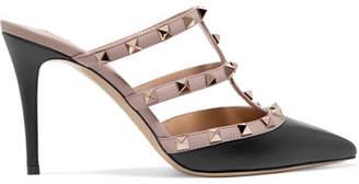 Valentino Garavani The Rockstud Leather Mules - Blush