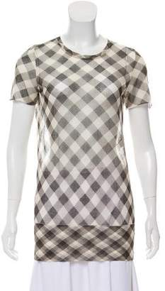 Marc Jacobs Sheer Gingham Tunic