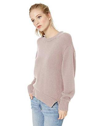 Amazon Brand - Daily Ritual Women's 100% Cotton Chunky Long-Sleeve Crew Sweater
