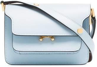 Marni blue trunk micro leather shoulder bag