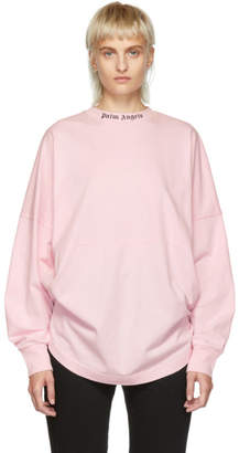 Palm Angels Pink Oversized Long Sleeve T-Shirt