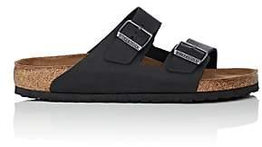 Birkenstock Men's Arizona Oiled Leather Double-Buckle Sandals-Black