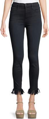 Frame Ali High-Rise Skinny Jeans w/ Fray Hem