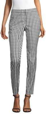 Lafayette 148 New York Manhattan Check Slim-Fit Pants