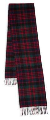 Barbour New Check Tartan Wool& Cashmere Scarf