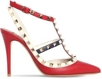 Valentino 100mm Rockstud Block Color Leather Pumps