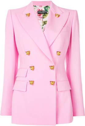 Dolce & Gabbana Tiger button double-breasted blazer